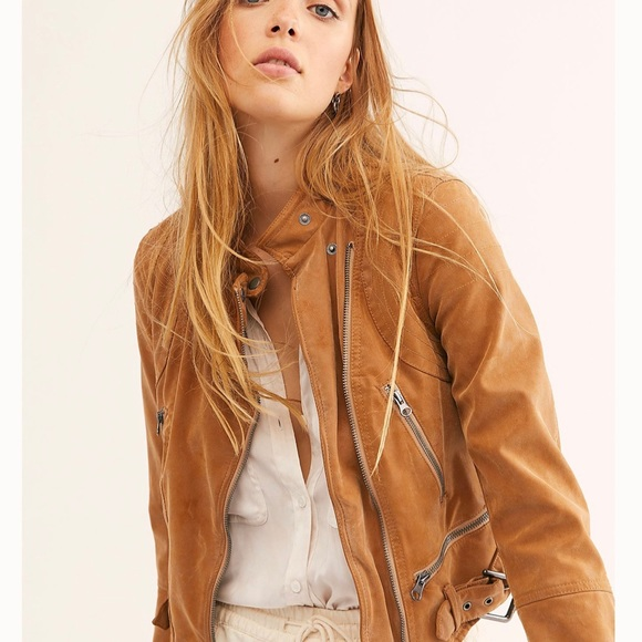 Free People Jackets & Blazers - Free People Fenix Suede Moto